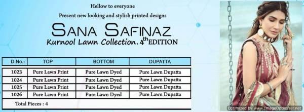 Sana Safinaz Kurnool 4th Edition Designer Pure Lawn Printed Dress Material With Pure Lawn Dupatta