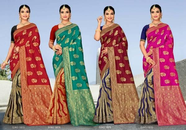Kalista Golden Jubilee 1 Party Wear Banarasi Silk Designer Saree Collection