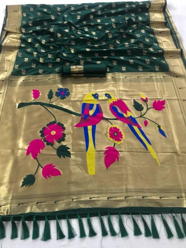 Rajyog New Paithani Silk Latest fancy Festive Casual Wear Silk Sarees Collection