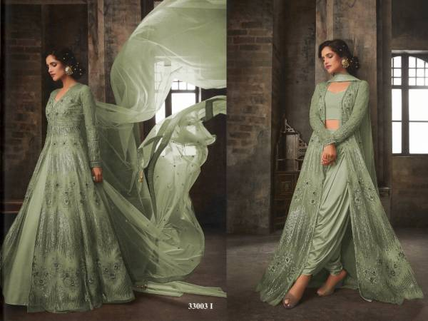 Latest New Designer Party Wear and For Wedding Anarkali Suit Collesction With Heavy Embroidered Work On Butter Fly Net With Bordered Dupatta and Banglory Satin Blouse