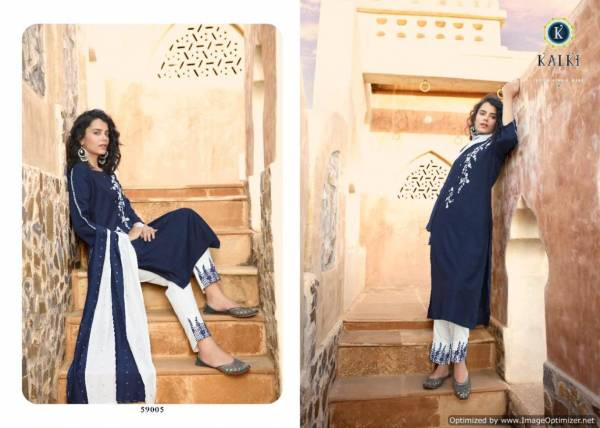 Kalki Sanskruti Pure Chinon Silk Latest Festive Wear Designer Ready Made Suit Collection