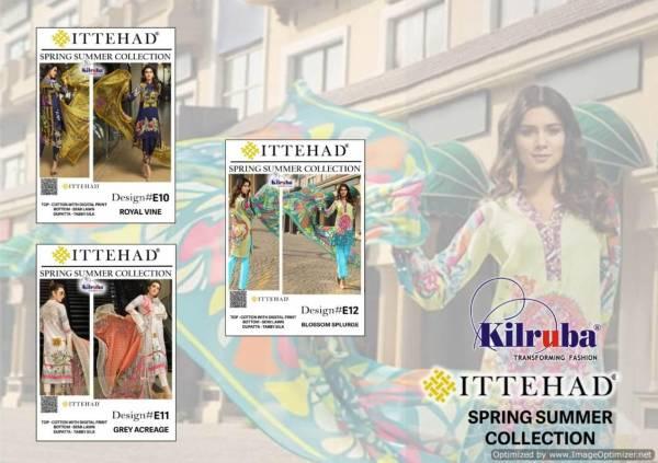 Kilruba Ittehad  Digital Print Semi Lawn Tabby Silk Digital Collection    -