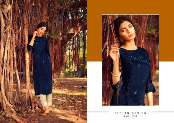 Kalaroop Zili Latest Ethnic Wear Lining Silk With Fancy Embroidery And Hand Work Designer Kurtis Collection