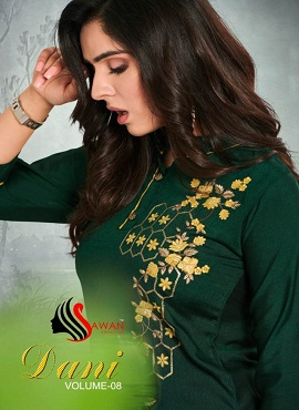 Sawan Dani Vol 8 Latest Designer Embroidery Work Kurti Collection With Plazzo