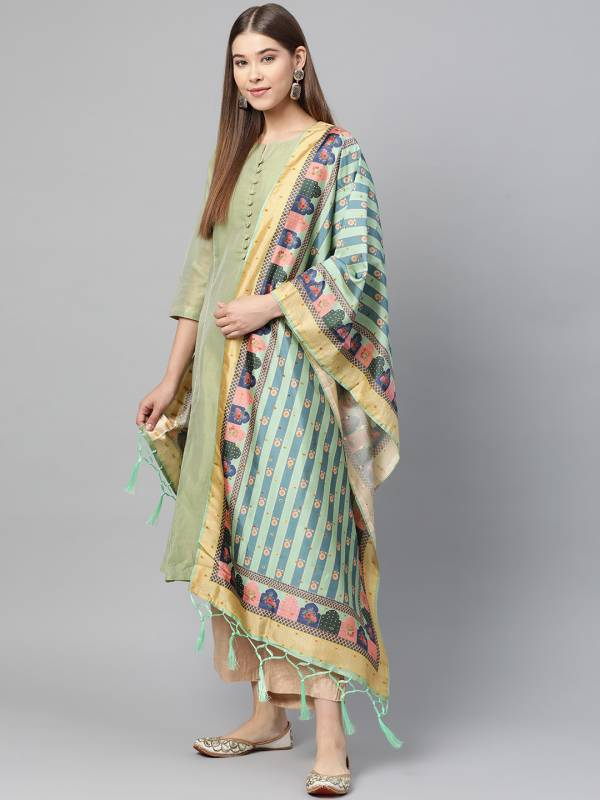 Latest Designer Printed Collection of Bamboo Buti Silk Dupatta
