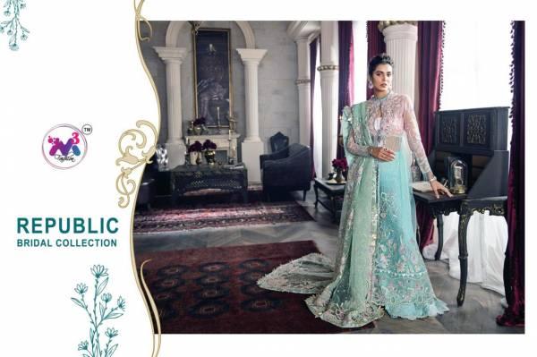 M3 Republic Bridal Coll Premium Fancy Festive Wear Heavy Net Butterfly Net Embroidered Salwar Suit Collection