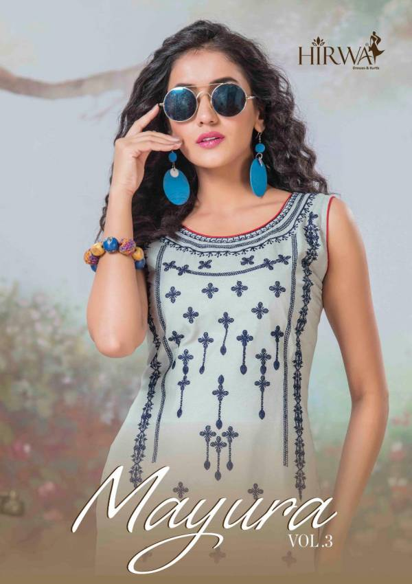 Hirwa Mayura Vol 3 New Launch of Designer Party Wear Kurtis Collection Beautiful Embroidered Work