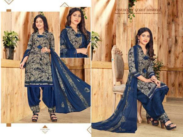 Pankhudi 5 Latest Regular Wear Printed American Crepe Dress Material With Chiffon Dupatta Collection