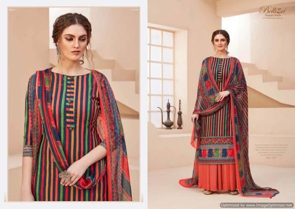 Belliza Zohra 2 Exclusive Latest Designer Pure Cotton Digital Print Dress Material Printed Nazneen Chiffon Dupatta With Four Side Lace