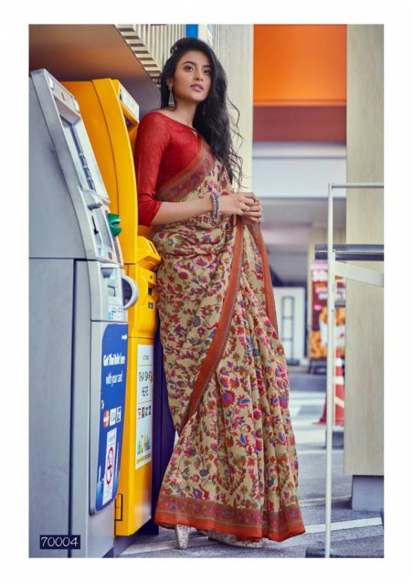 Lt Kala Kruti Latest fancy designer Regular Casual Wear Kashmiri Digital Printed Saree Collection