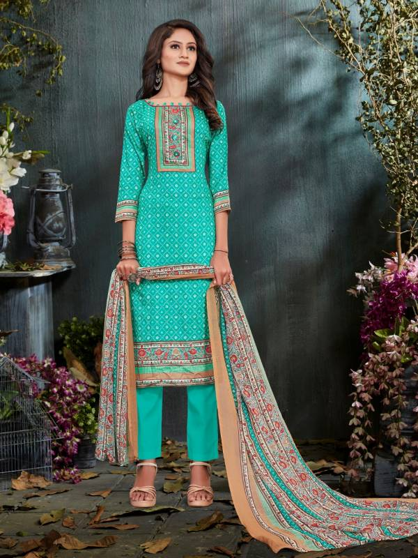 BIPSON PREETO Latest Fancy Regular Wear Glace Cotton Print With Work Salwar Suit Collection