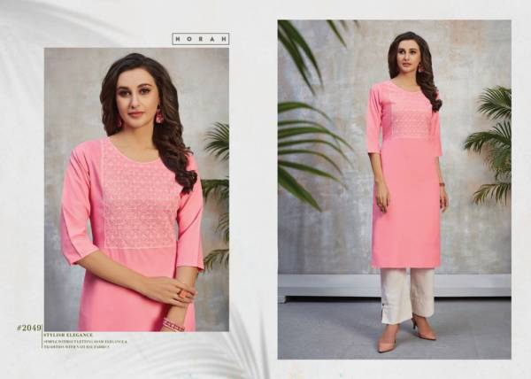 Tunic House Norja Latest Fancy Designer Ethnic Wear Rayon Embroidered Kurti Collection