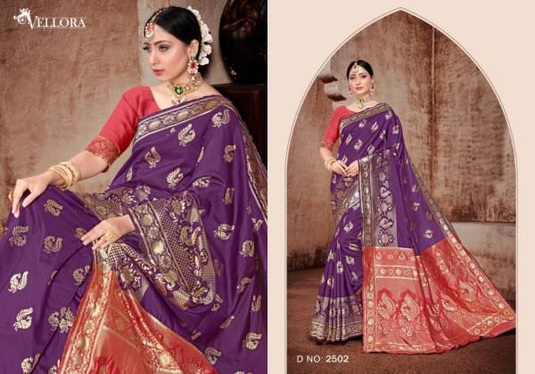 Vellora Vol -15 Designer Classy Printed Party Wear Bridal Rich Look Banarasi Silk Saree