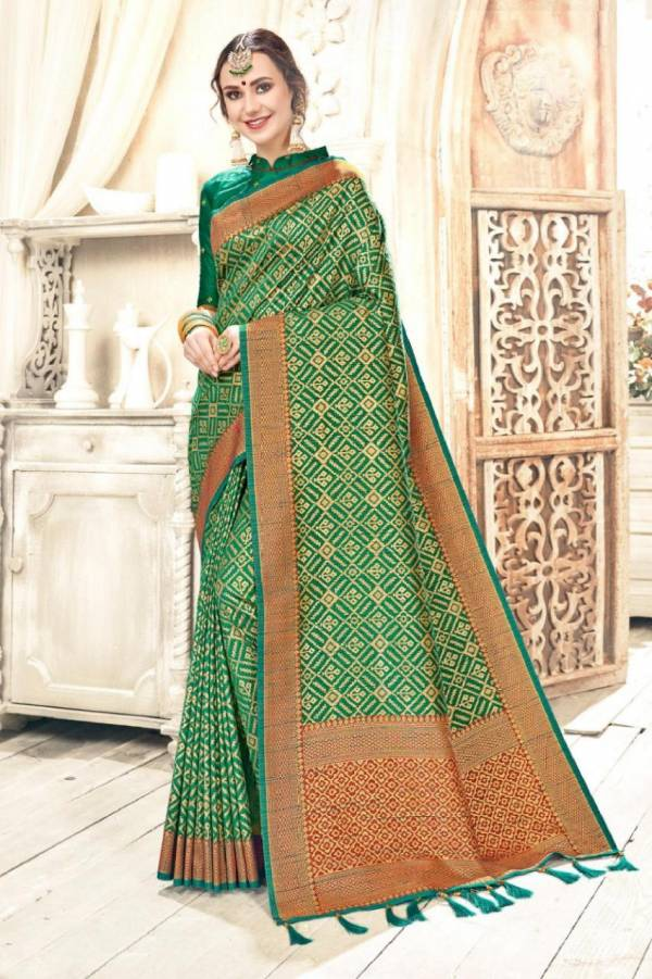 Latest Designer Party Wear Bhagalpuri Saree Collection