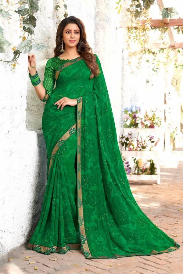 Hirva Mishri Latest fancy Designer Regular casual Wear Heavy Georgette Printed Saree Collection