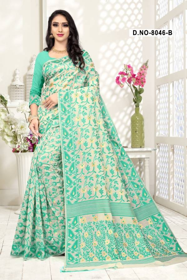 Haytee Arabic 8046 Launching New Printed Cotton Sarees For Resular Wear