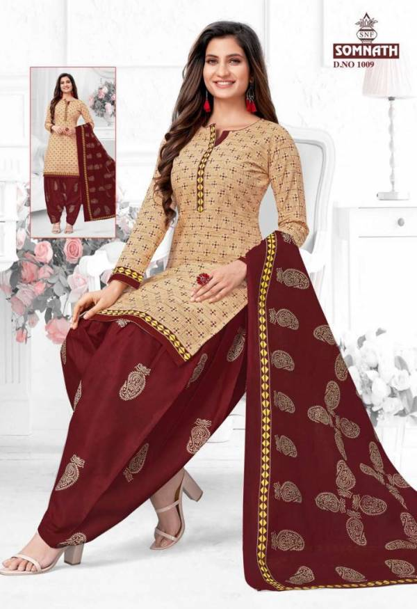 Somnath Sangini 1 Regular Wear Pure Cotton Printed Readymade Dress Material Collection
