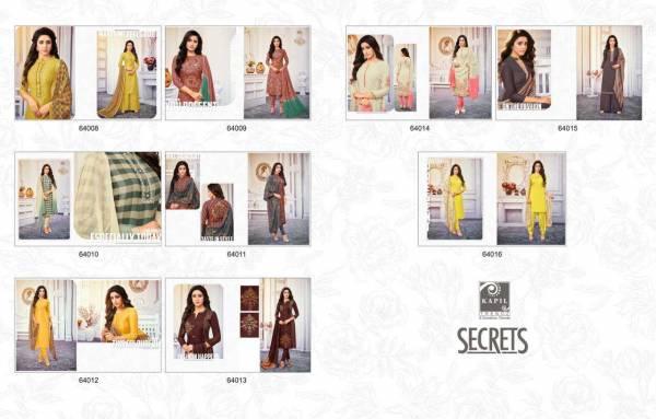 Kapil Secrets Latest Designer Function And Festive Wear Dress Material Collection