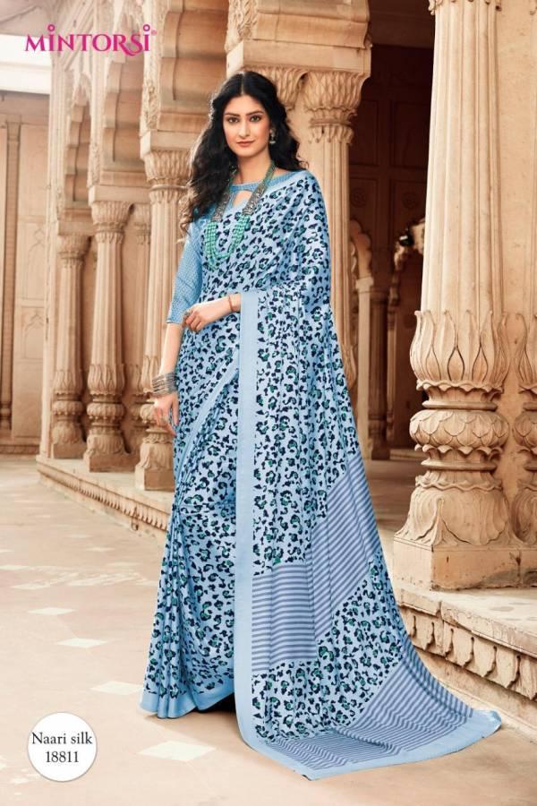 MINTORSI Exclusive Satin Collection Japan Silk Designer Daily Wear Saree Collrctions