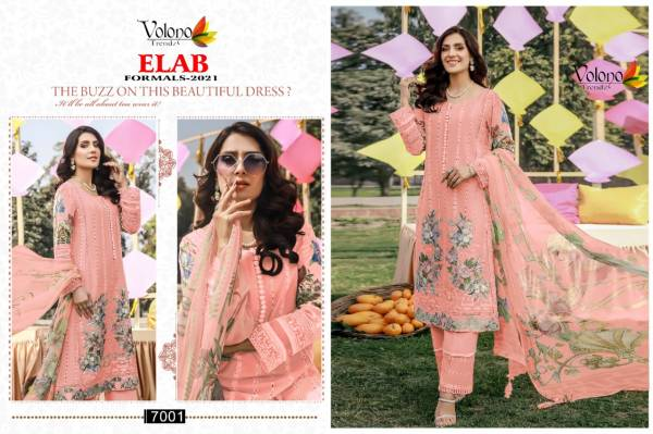Volono Elab Formals 2021 Latest Fancy Designer Colors Luxury Embroidery Cambric Pakistani Salwar Suit Collection