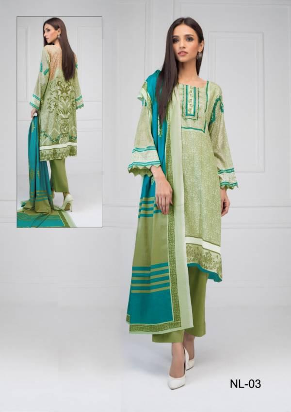 Nikhaar Luxury Latest Designer Pure Cotton Printed Karachi Dress Material Collection