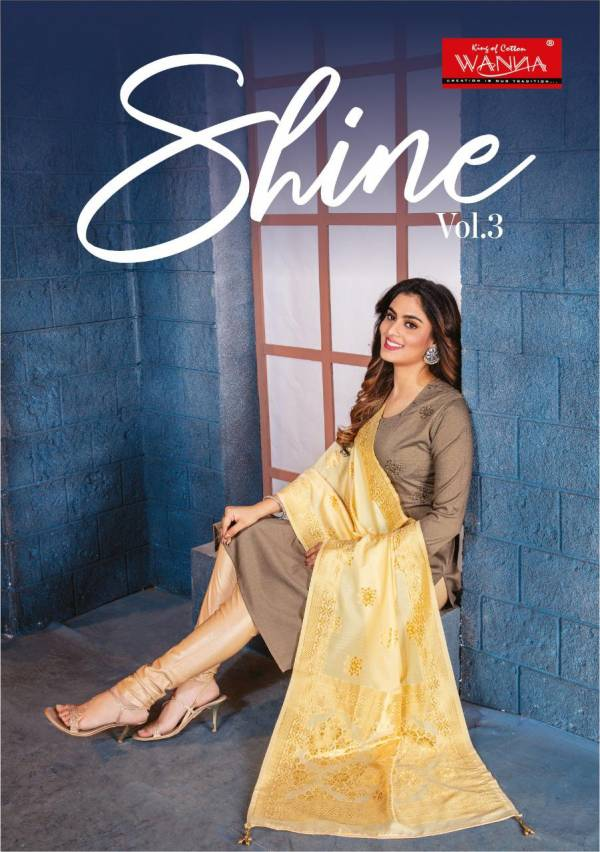 Wanna Shine 3 Fancy Casual Wear Designer silk Kurti With Dupatta Collection