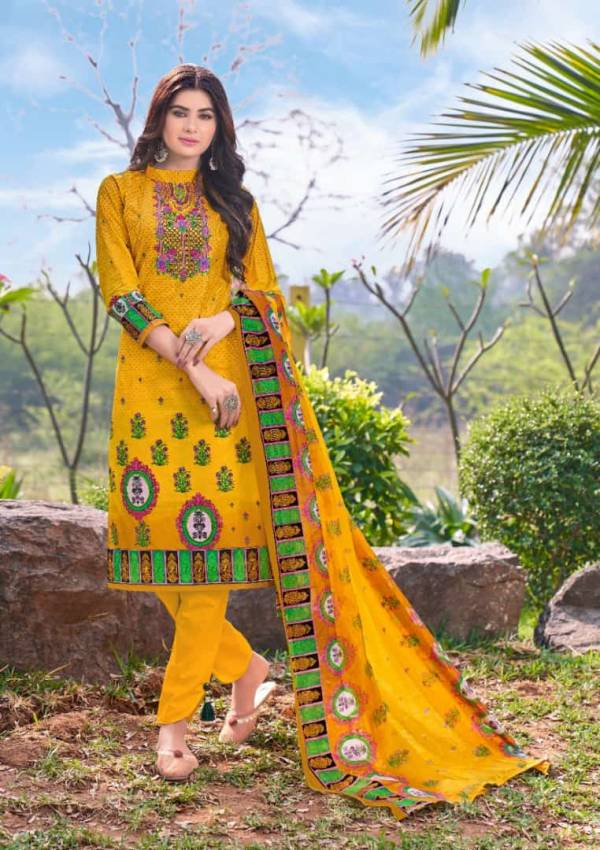 Mishri Lawn Cotton 6 Latest fancy Designer Casual Regular Wear Printed Cotton Karachi Dress Material Collection