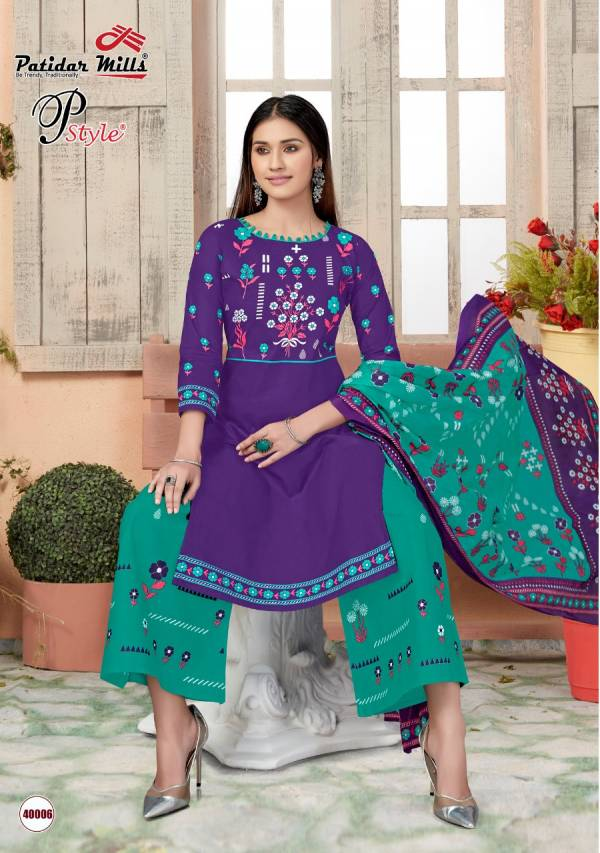 Patidar P Style 40 Latest Designer daily wear Pure Cotton Dress Material Collection