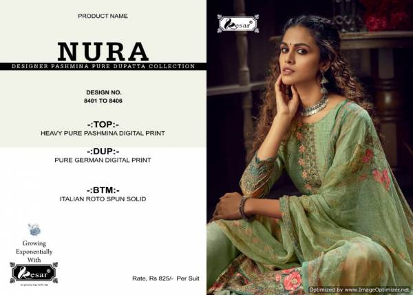 Kesar Nura Latest Designer Heavy Pure Pashmina Digital Printed Dress Material Collection