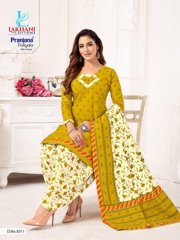 Lakhani Pranjana Patiyala 5 Latest Fancy Designer Regular Casual Wear Ready Made Printed Cotton Salwar Suit Collection