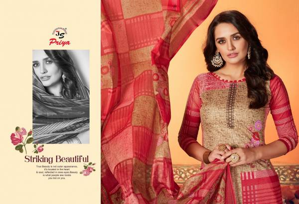 JS Priyalaxmi 5 Latest Collection Of Designer Printed Pure Cotton Dress Material