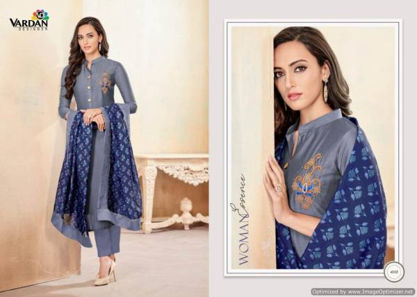 Vardan Kanishka 1 Heavy Designer Ready Made Suit With Embroidery Work and Digital Print Dupatta
