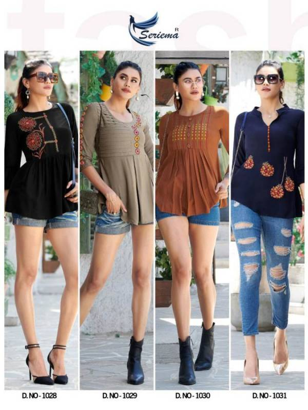 New Trendy Latest Designer Collection of Short Tops Embroidery Work