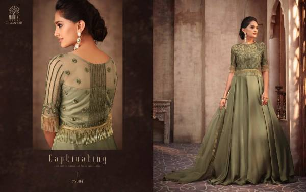 Glamour Vol-75 Silk Georgette With Cancan Designer Wedding Salwar Suit