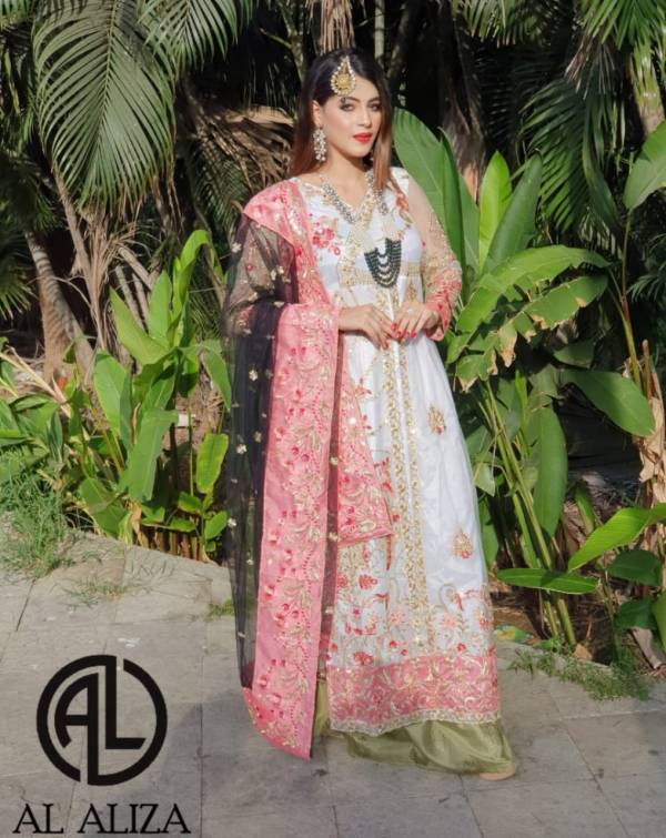 Al Aliza Block Buster Hits 2 Fancy Latest Designer Festive Wear Heavy Georgette With Heavy Embroidery Work Pakistani Salwar Suits Collection