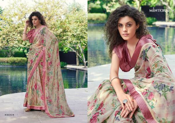 Tejal Mintorsi Weightless with satin lace and satin blouse Printed Designer Daily Wear and Party Wear Saree Collections
