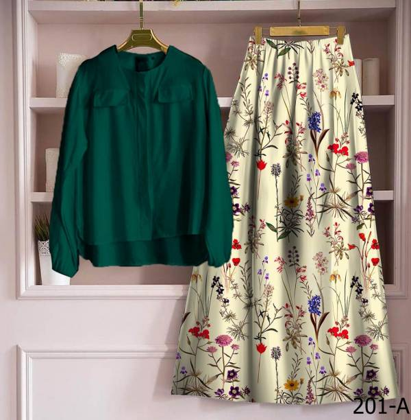 New Latest Designer Printed Casual Skirt With Top Collection