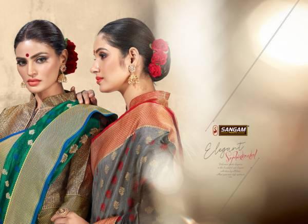 Sangam Madras Handloom Latest Deaigner Fancy Wedding Wear Printed Handloom Cotton Silk Sarees Collection