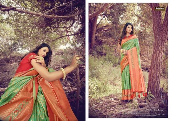 SANGAM TANISHQ Latest fancy Designer Festive Wear Heavy Silk Saree Collection