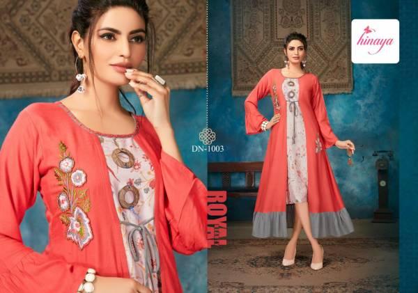 Hinaya Kareena Vol 2 Latest Designer Party Wear Digital Printed Rayon Kurtis Collection