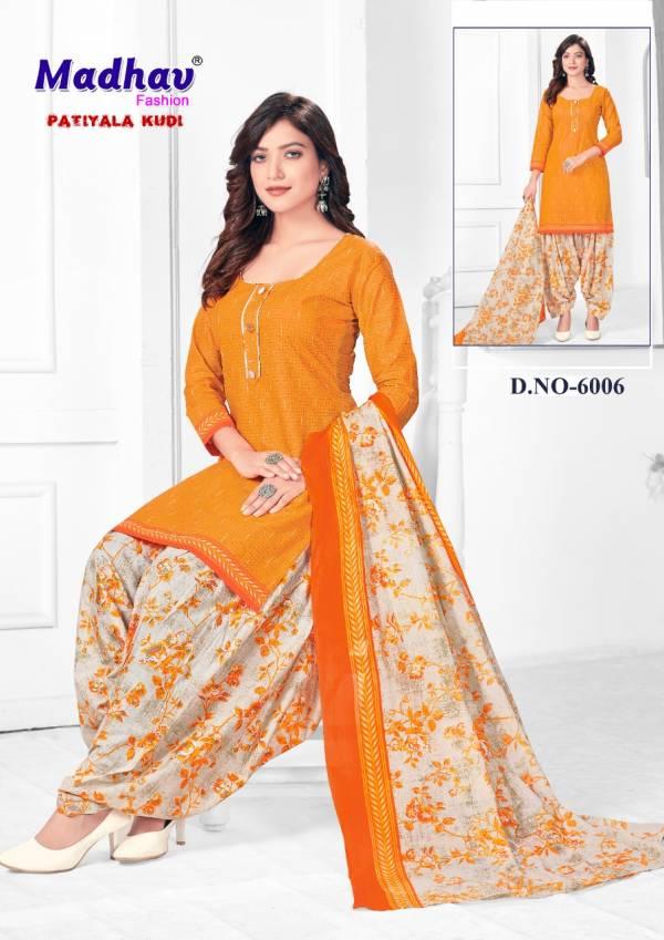 Madhav Fashion Patiyala Kudi 6 Cotton Printed Casual Wear Dress Material Collection