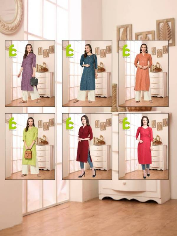 FC Exclusive Collection Of Designer Rayon Flex Casual Wear Kurti `