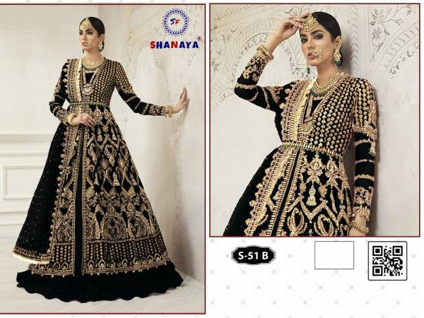 Shanaya Rose Bridel S 51 Latest Fancy Designer Festive Wear Heavy Net Pakistani Salwar Suit Collection