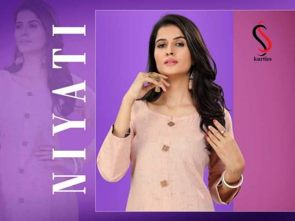SS Niyati Latest Anarkali Style Three Fourth Hand Stylish Kurtis Collection