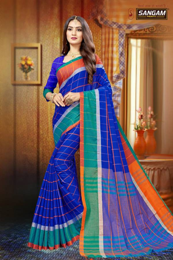 Sangam Red Carpet 1 latest fancy Designer Casual Wear Linen Cotton Sarees Collection