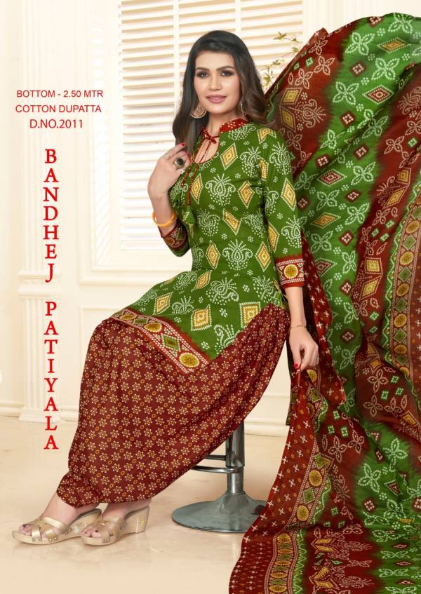 Bandhej Patiyala-2 Exclusive Bandhani Printed Cotton Daily Wear Dress Material Collection