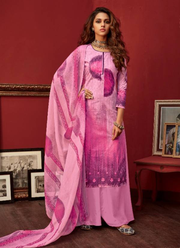 Digital Printed Daily Wear New Fancy Pure Cotton Palazzo Suits Collection