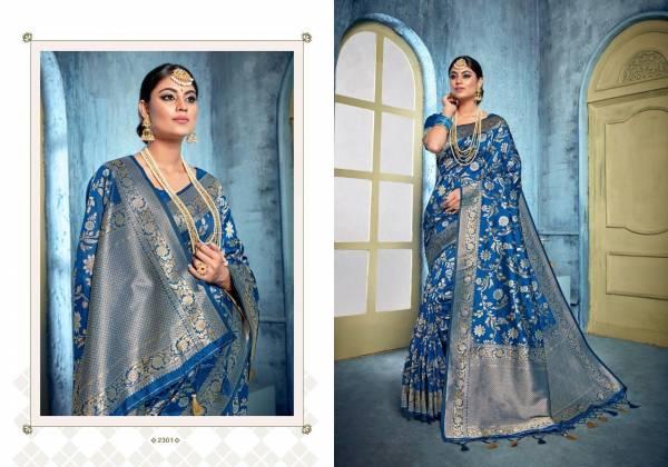 Vellora Vol 13 Kalakari Banarasi Silk Designer Partywear Saree Collections