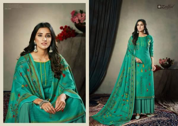 Zulfat Winter Affair Latest Designer Pure Pashmina Digital Style Print Dress Material Collection