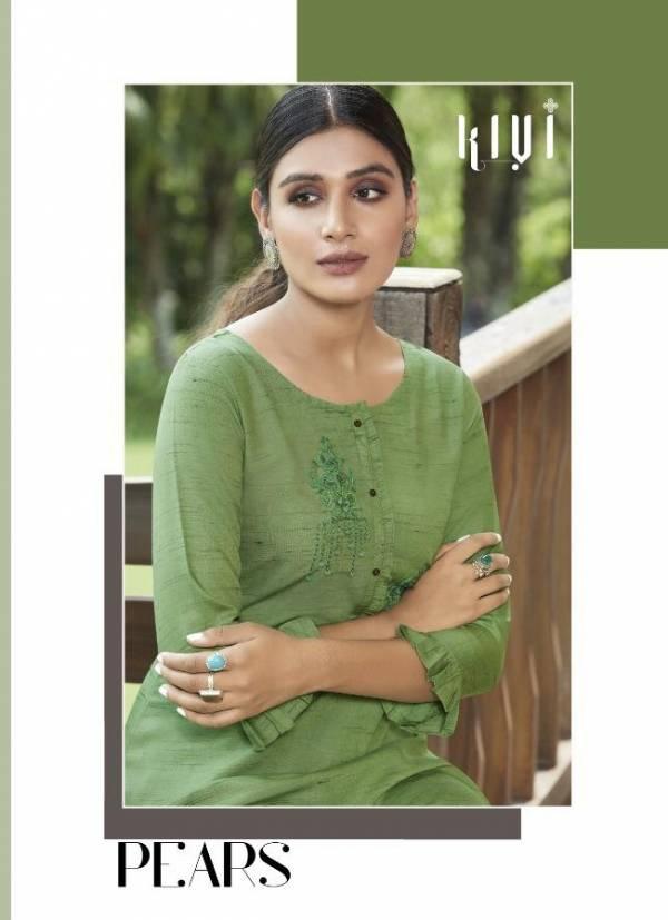 Kalaroop Pears Fancy Wear Designer Rayon Fancy Hand Work Kurti Collection
